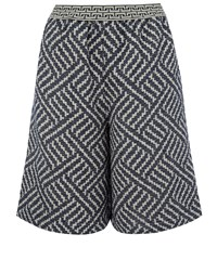 Rodebjer Blue Aten Zig Zag Woven Culottes