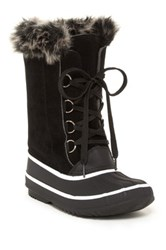 Charles Albert Faux Fur Trim Boot Black