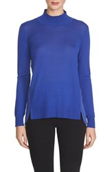 Women's 1.State Mock Turtleneck Sweater Cobalt Crisp