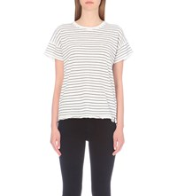 Rag And Bone Vintage Striped Jersey T Shirt White Black