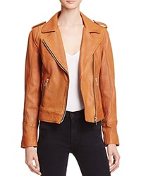 Doma Leather Biker Jacket Camel