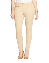 Lauren Ralph Lauren Plus Zip Pocket Skinny Pants Brown