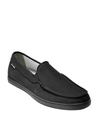 Cole Haan Canvas Slip On Loafers Black