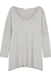 Skin Stretch Jersey Pajama Top Light Gray