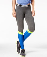 Material Girl Active Juniors' Colorblocked Leggings Only At Macy's Heather Charcoal