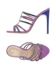 Martin Clay Footwear Sandals Women Purple