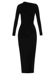 Vivienne Westwood Taxa Long Sleeved Jersey Dress Black