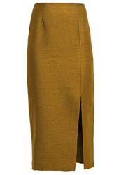 Cameo Collective Perfect Lie Pencil Skirt Khaki Oliv