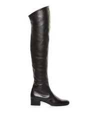 Saint Laurent Over The Knee Leather Boots