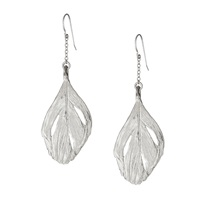 Chupi Maxi Swan Feather Earrings Silver
