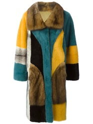 Liska Reversible Fur Coat Multicolour