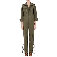 Each X Other Women's Canvas Military Jumpsuit Dark Green