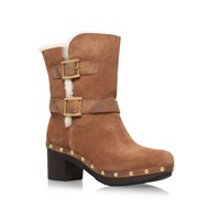 Ugg Brea High Heel Biker Boots Brown