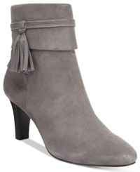 Bandolino Willaria Tassled Booties Grey