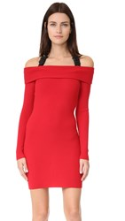 Moschino Off The Shoulder Dress Red