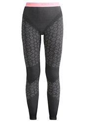 Odlo Evolution Warm Base Layer Concrete Grey Black Fleur De Lotus