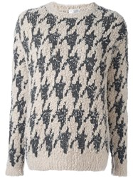 Brunello Cucinelli Boucle Knit Jumper Nude And Neutrals