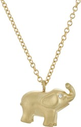 Finn Women's Elephant Pendant Necklace Colorless