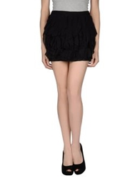 Haute Hippie Mini Skirts Black
