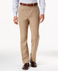 Louis Raphael Hidden Extention Straight Fit Dress Pants Tan