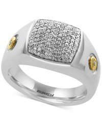 Effy Men's Diamond Ring 3 8 Ct. T.W. In Sterling Silver And 18K Gold Plate Two Tone