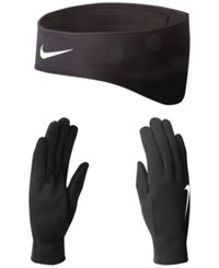 Nike Therma Fit Glove Set Black Silver