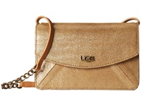 Ugg Leni Crossbody Wet Sand Metallic Cross Body Handbags Brown
