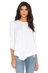 Wilt Slub Bell Sleeve Tunic Top White