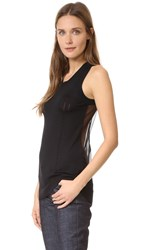 Vera Wang Sleeveless Racer Back Tank Black