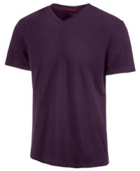 Alfani Slim Fitted V Neck T Shirt Purple Plum