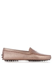 Tod's Gommini Leather Loafers Pink