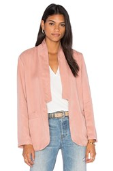 York Street Slim Shawl Collar Blazer Rose