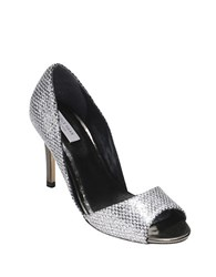 Cole Haan Antonia Peep Toe Pumps Silver