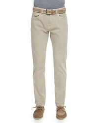 Loro Piana Five Pocket Denim Jeans Tan Women's