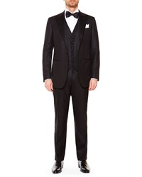 Stefano Ricci Peak Lapel Wool Tuxedo Black Men's Blk
