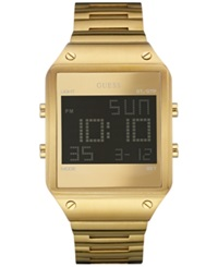 Guess Men's Digital Gold Tone Bracelet Watch 55X38mm U0596g3 No Color