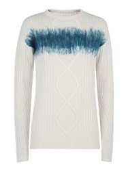 Victorinox Nadine Cable Knit Sweater Cream