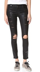 7 For All Mankind The Ankle Skinny Jeans Coated Fashion