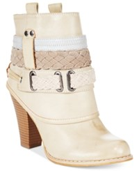 Mojo Moxy Dolce By Brigade Cuffed Western Booties Women's Shoes Cream