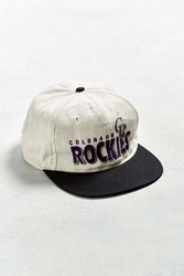 Urban Outfitters Vintage Colorado Rockies Snapback Hat White
