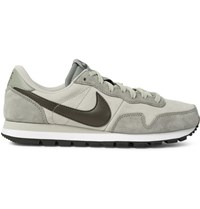 Nike Air Pegasus 83 Leather Trimmed Suede Sneakers Gray