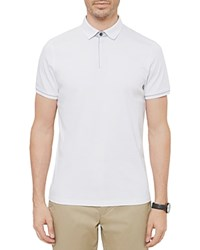 Ted Baker Sergio Zip Regular Fit Polo White