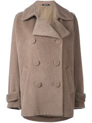 Maison Martin Margiela Double Breasted Coat Nude And Neutrals