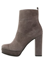Kennel Schmenger Amina High Heeled Ankle Boots Smoke Grey