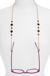 Women's L. Erickson 'Daphanie' Eyeglass Chain Jet Gold