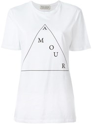 Etre Cecile Etre Cecile Amour Triangle Print T Shirt White