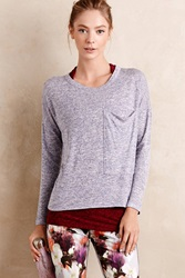Anthropologie Gauzy Pocket Tee Sky