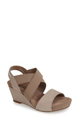 Mephisto 'Barbara' Wedge Sandal Women Warm Grey
