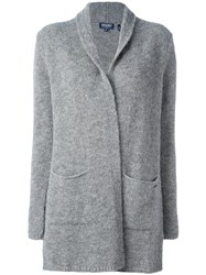 Woolrich Open Front Cardigan Grey