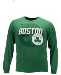 Adidas Men's Long Sleeve Boston Celtics Distressed Back T Shirt
